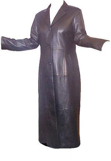 Lambskin Leather Full Length Trench Coat