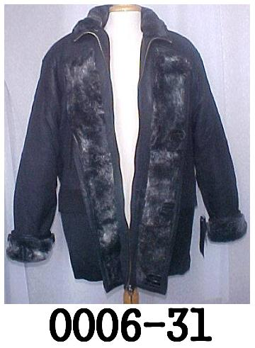 Lambskin Leather Stadium Coat Shearling Lining