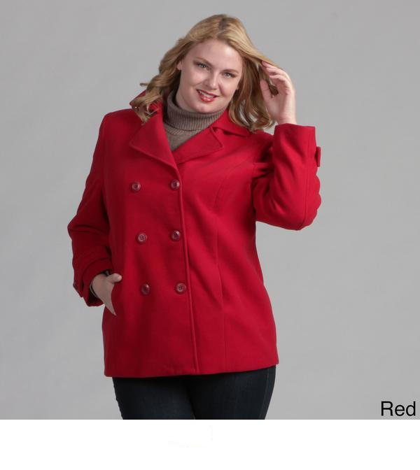 Full Figured Double Breasted Pea Coat