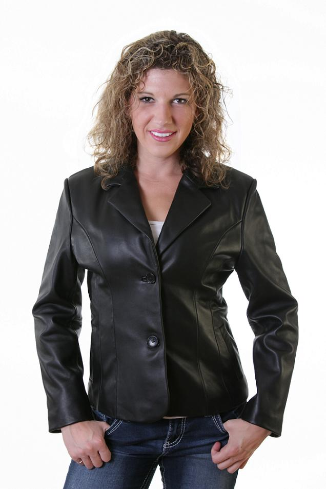 Lambskin Leather Blazer