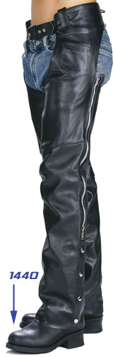 Leather Chaps Motorcycle Biker