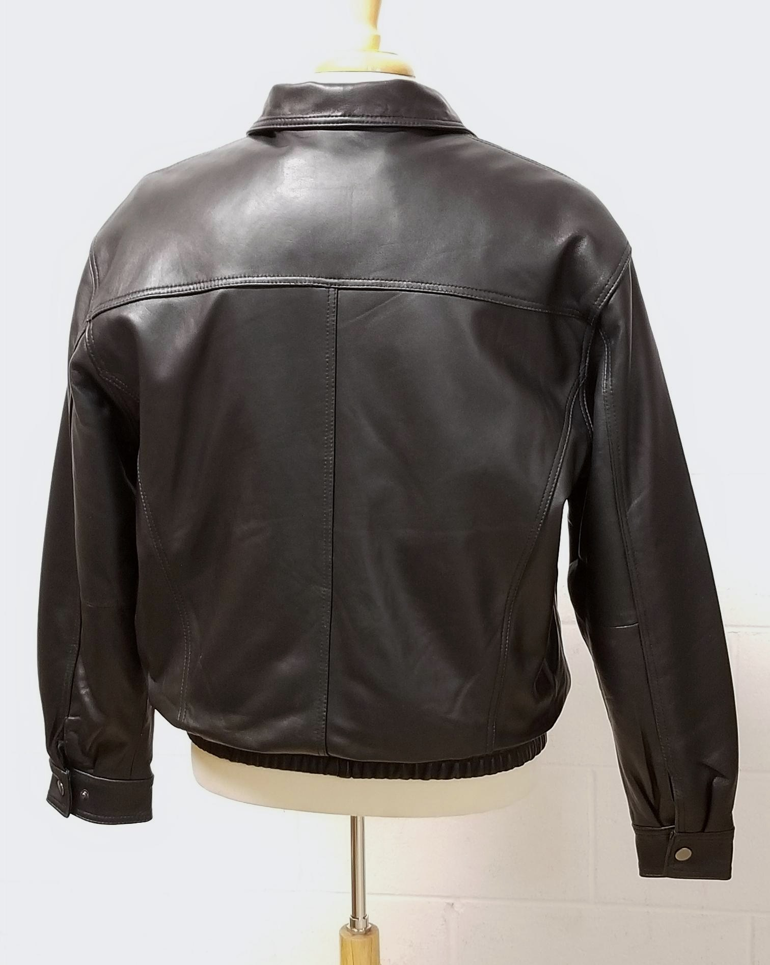 Men's Bomber Jacket Genuine Leather (Pig Nappa)