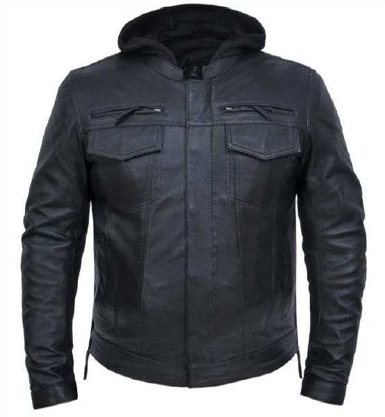 Premium Lambskin Leather Biker Jkt (Avail. Online Only)