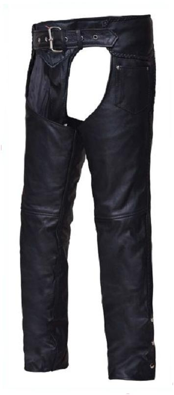 Leather Chaps Premium Quality with Pockets