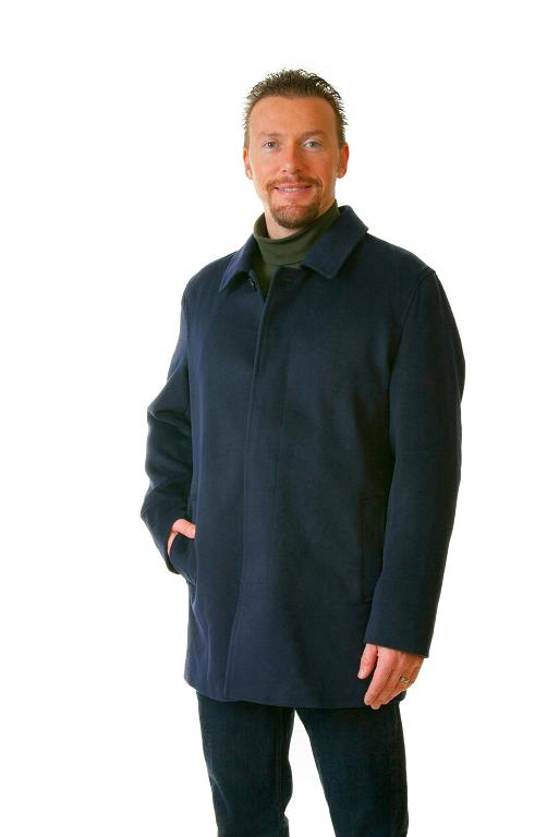 Single Breasted Wool Trench Coat