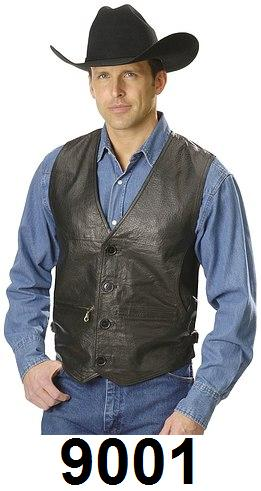 Lambskin Leather Vest w/ Side Buckles