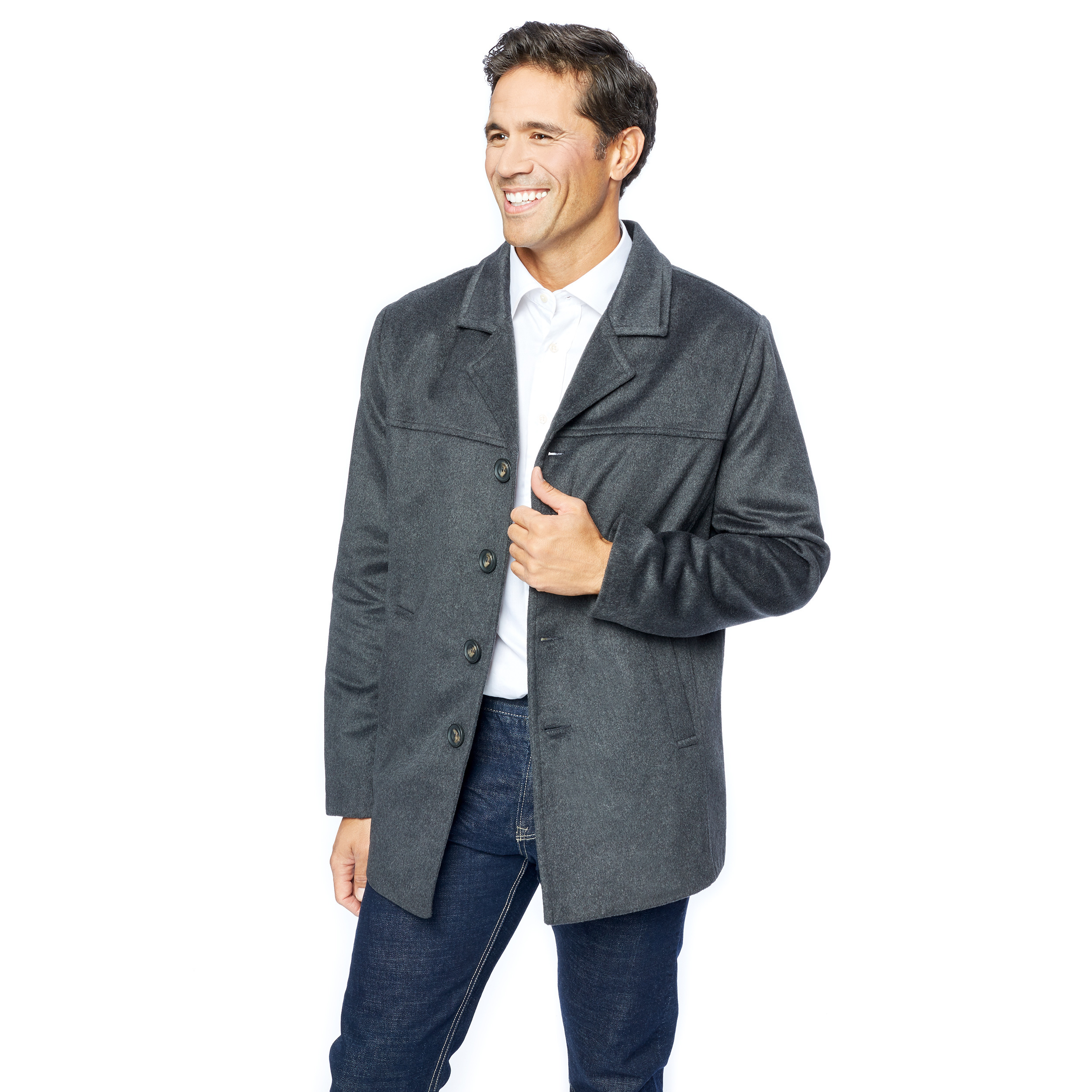 Mens Wool Blend Light weight Jacket Car Coat