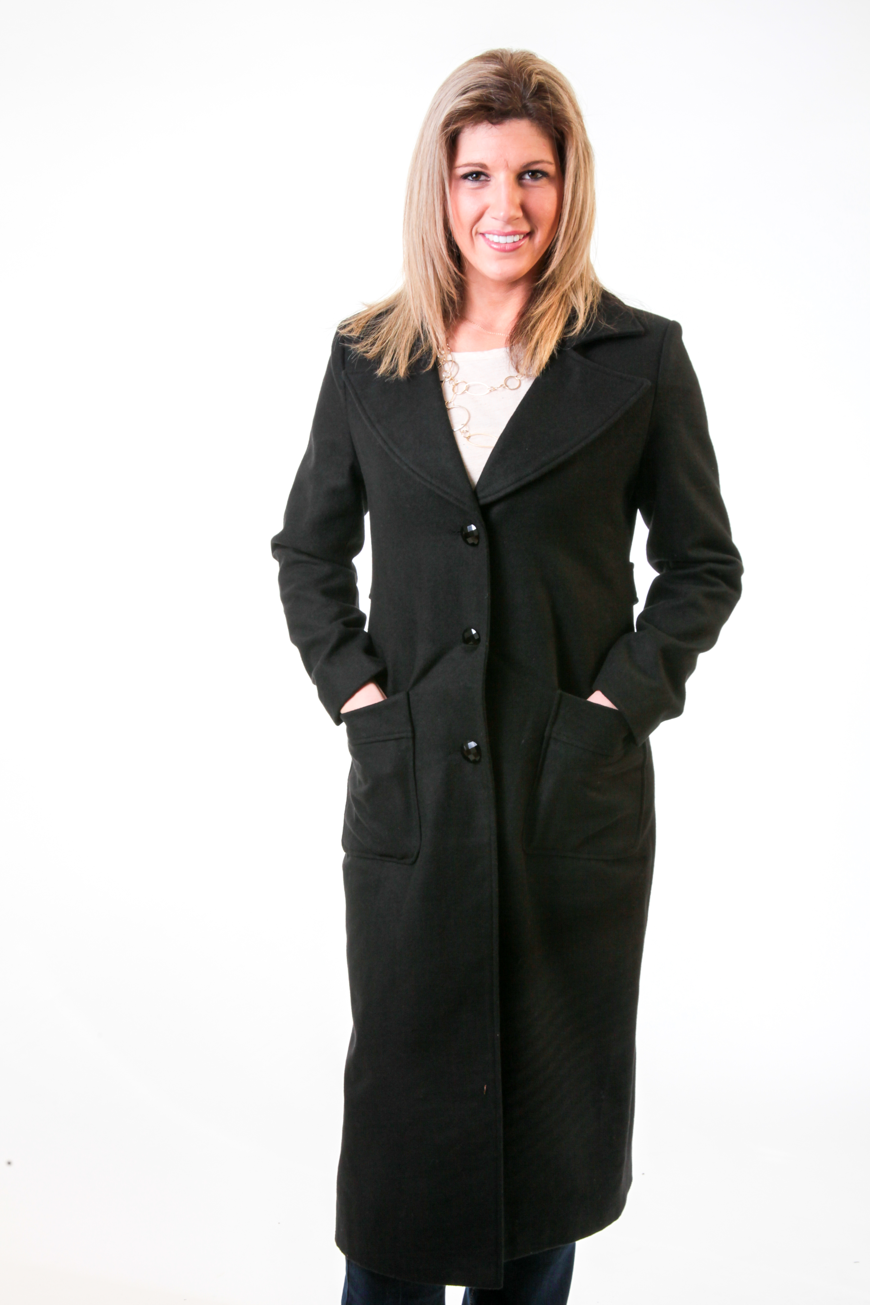 Women Plus Size Trench Coat Maxi Long Ankle Length