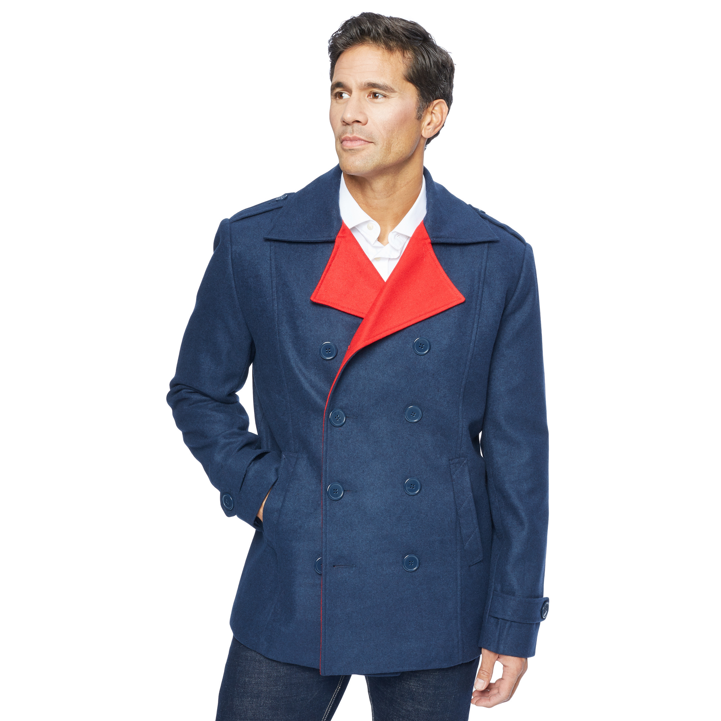 Mens Wool Pea Coat