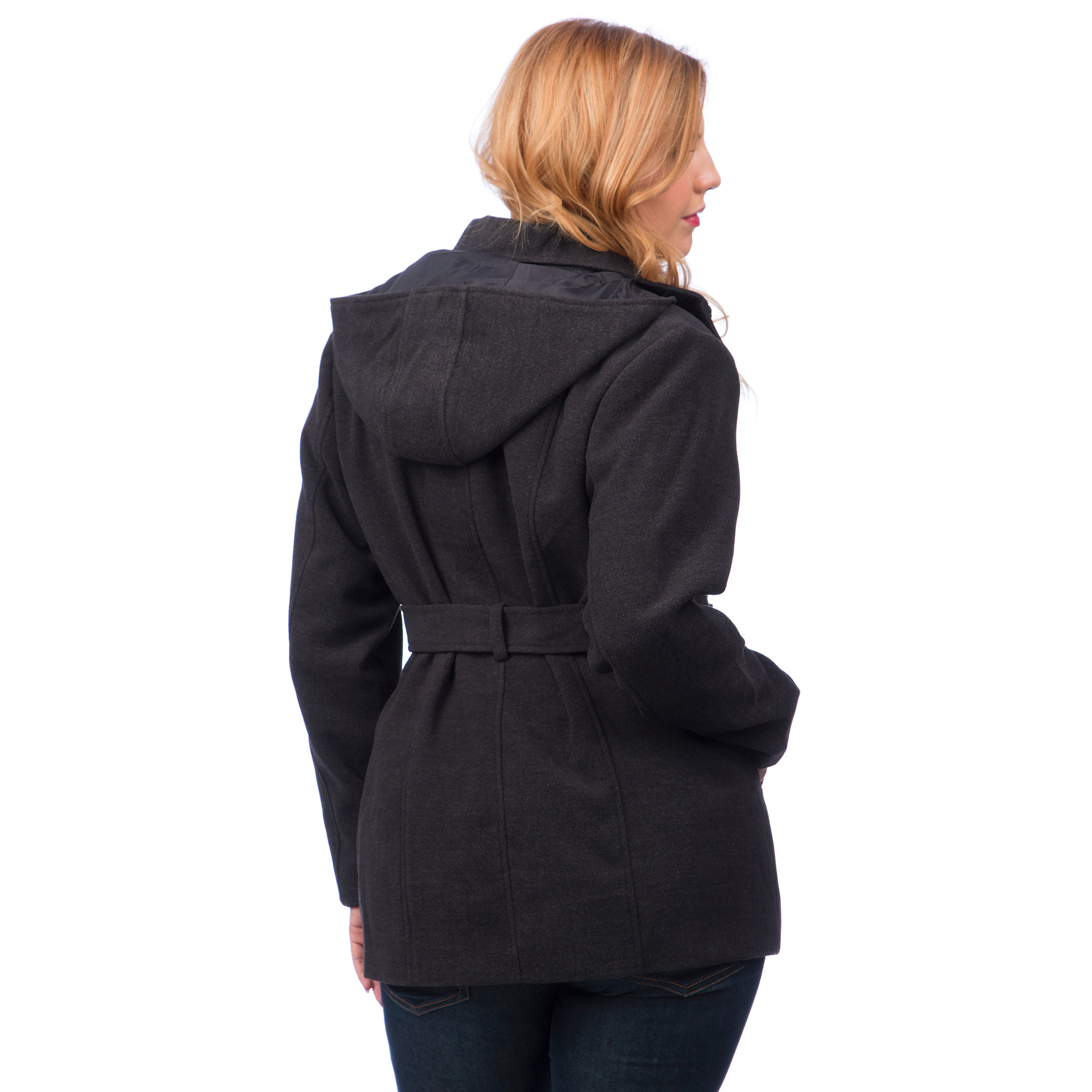 Single breasted Trench Coat with Detachable Hood